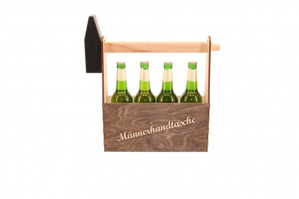 Männerhandtasche für 4 Flaschen